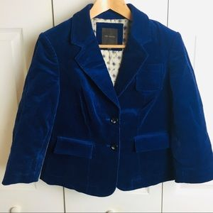The Limited Corduroy Jacket in Blue Two-Button